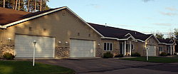 Residential garage doors sold, installed and serviced by Rapid Garage Door & Awning, Grand Rapids, Minnesota.