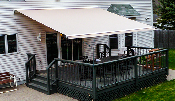 retractable deck patio awnings garage door service sales and
